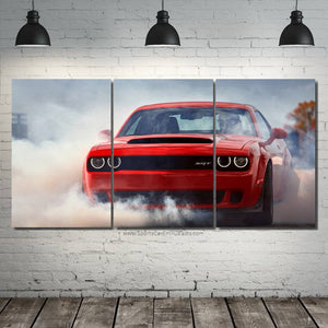 Dodge Challenger SRT Canvas FREE Shipping Worldwide!!