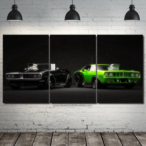 Muscle Cars Canvas 3/5pcs FREE  Shipping Worldwide!!