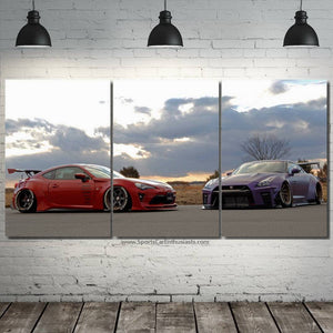 GT86 & GT-R R35 Canvas 3/5pcs FREE Shipping Worldwide!!