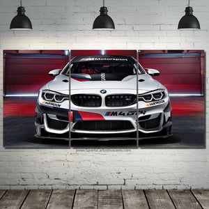 BMW M4 GT4 Canvas 3/5pcs FREE Shipping Worldwide!!