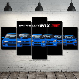 Subaru Impreza WRX STI Evolution Canvas FREE Shipping Worldwide!!