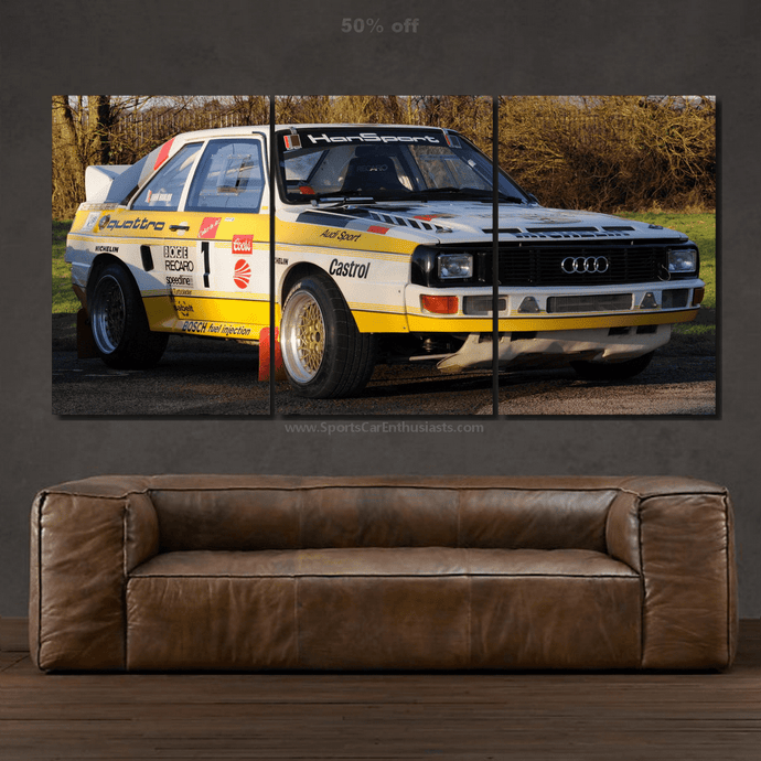 Audi Quattro Canvas 3pcs FREE Shipping Worldwide!!