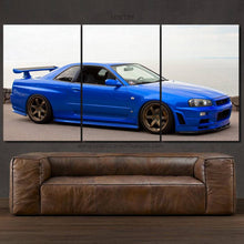 Charger l'image dans la galerie, Nissan GT-R R34 Canvas FREE Shipping Worldwide!!