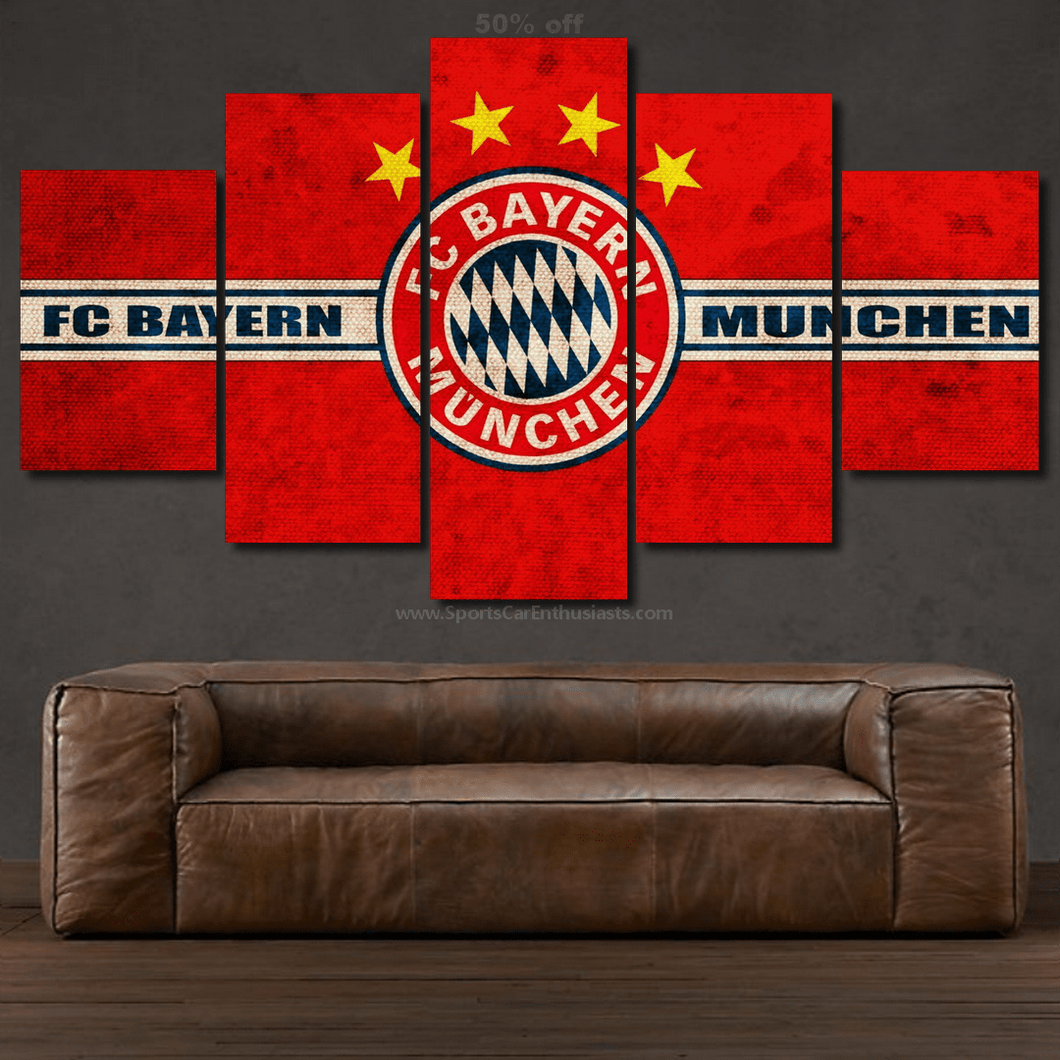 FC Bayern Munchen 3/5pcs Canvas FREE Shipping Worldwide!!