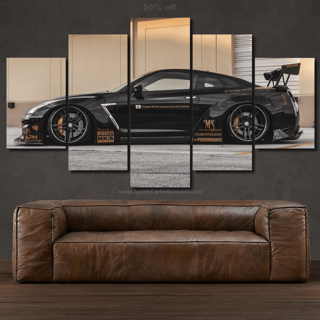 Nissan GT-R R35 LB Canvas 3/5pcs FREE Shipping Worldwide!!