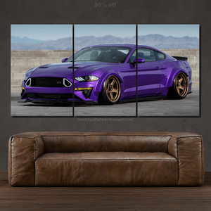 Ford Mustang Canvas 3/5pcs FREE Shipping Worldwide!!