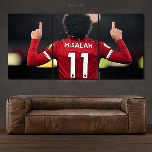 Mohamed Salah  3/5pcs Canvas FREE Shipping Worldwide!!