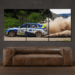 Rally Subaru STI Canvas 3/5pcs FREE Shipping Worldwide!!