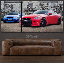 Load image into Gallery viewer, Nissan GT-R Canvas 3/5pcs FREE Shipping Worldwide!!