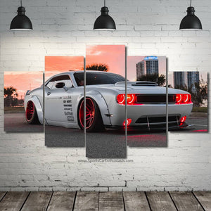 Dodge Challenger Liberty Walk Canvas 3/5pcs FREE Shipping Worldwide!!