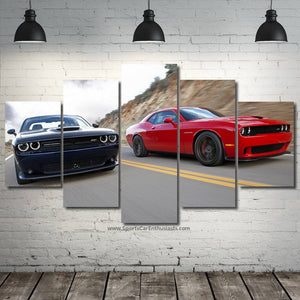 Dodge Challenger SRT Hellcat 3/5pcs FREE Shipping Worldwide!!