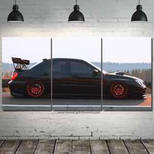 Subaru Impreza WRX STI Canvas 3/5pcs FREE Shipping Worldwide!!