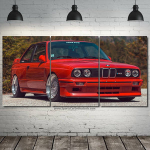 BMW E30 M3 Canvas 3/5pcs FREE Shipping Worldwide!!