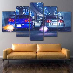 GT-R R34 & Supra Canvas FREE Shipping Worldwide!!