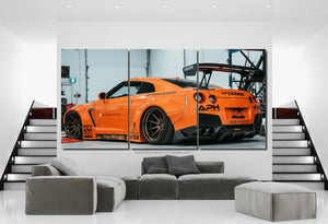 GT-R R35 Liberty Walk Canvas 3pcs FREE Shipping Worldwide!!