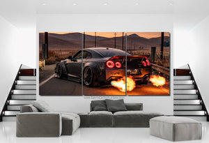 Nissan GT-R R35 Liberty Walk Canvas FREE Shipping Worldwide!!