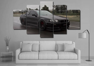 GT-R R34 Canvas 3/5pcs FREE Shipping Worldwide!!