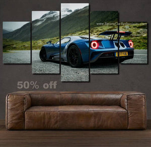 Ford GT Canvas 3/5pcs FREE Shipping Worldwide!!