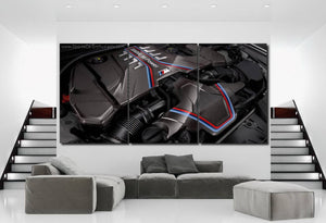 BMW M5 Engine Canvas 3/5pcs FREE Shipping Worldwide!!