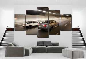 GT-R R34 & AE86 Canvas 3/5pcs FREE Shipping Worldwide!!
