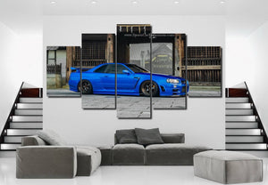 Nissan GT-R R34 Canvas 3/5pcs FREE Shipping Worldwide!!