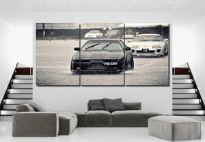 Toyota Supra MK3/4 Canvas 3/5pcs FREE Shipping Worldwide!!