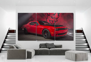 Dodge Challenger SRT Demon Canvas FREE Shipping Worldwide!!