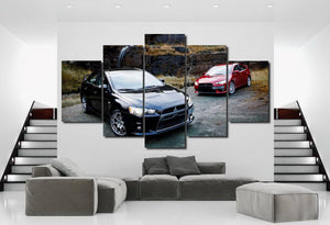 Mitsubishi EVO X Canvas 3/5pcs FREE Shipping Worldwide!!