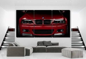 BMW E46 M3 Canvas 3/5pcs FREE Shipping Worldwide!!