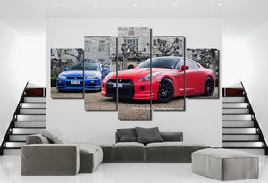 Nissan GT-R Canvas 3/5pcs FREE Shipping Worldwide!!