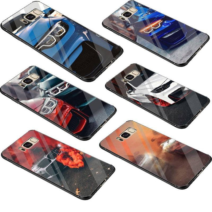 BMW Tempered Glass Phone Case for Samsung S/Note Models FREE Shipping Worldwide!!