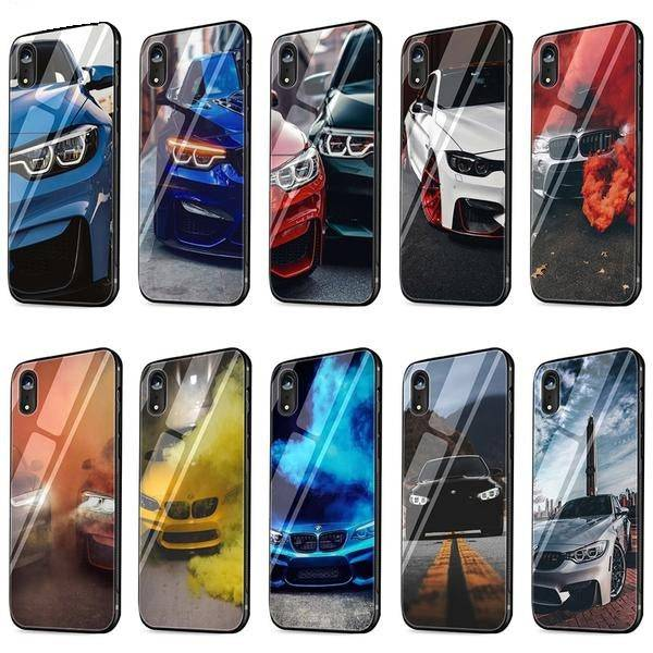 BMW Tempered Glass Phone Case for iPhone ALL Models FREE Shipping Worldwide!!