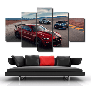 Ford Mustang Shelby Cobra Canvas 3/5pcs FREE Shipping Worldwide!!