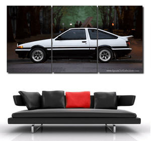 Toyota AE86 Canvas 3/5pcs FREE Shipping Worldwide!!