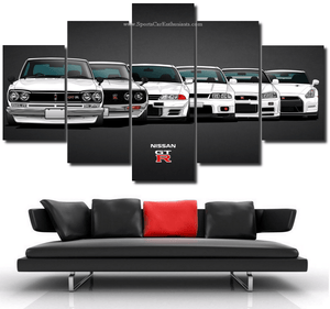 Nissan GT-R Canvas FREE Shipping Worldwide!!