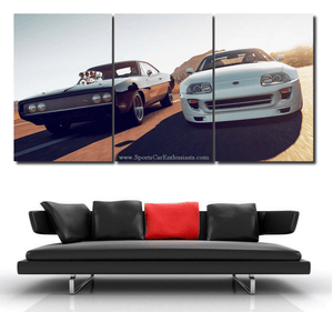 Fast & Furious Canvas 3/5pcs FREE Shipping Worldwide!!