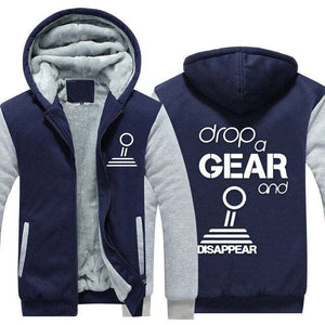 Drop a gear and disappear Top Quality Hoodie FREE Shipping Worldwide!!