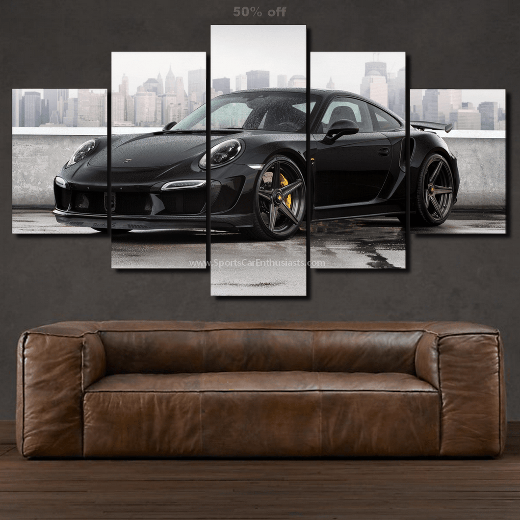 Porsche 911 Turbo S Canvas 3/5pcs FREE Shipping Worldwide!!