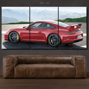 Porsche 911 GT3 Canvas 3/5pcs FREE Shipping Worldwide!!