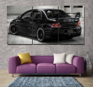 Mitsubishi EVO 9 Canvas 3/5pcs FREE Shipping Worldwide!!