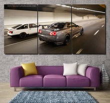 Load image into Gallery viewer, GT-R R34 & AE86 Canvas 3/5pcs FREE Shipping Worldwide!!