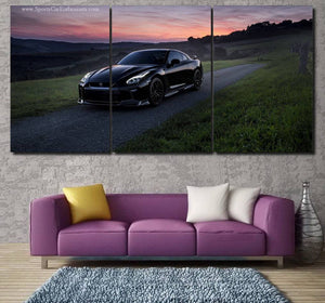 GT-R R35 Canvas 3/5pcs FREE Shipping Worldwide!!
