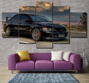 Mitsubishi EVO 8 Canvas 3/5pcs FREE Shipping Worldwide!!