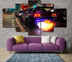 Nissan GT-R R33 Canvas 3/5pcs FREE Shipping Worldwide!!