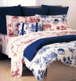 Sheridan Bedlinen - Wanted an Australian toile.  Well-drawn and depicting Australian beach life and foliage.
