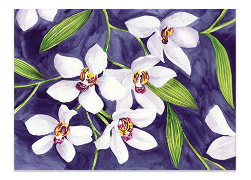 Australian Orchid Mauve - A6 Art Card Helen Ashley Designs