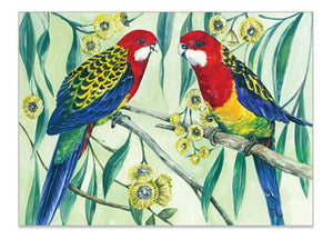 Australian Parrot Eastern Rosella - A6 Art Card Helen Ashley Designs