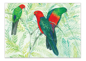 Australian Parrot King Parrot - A6 Art Card  Helen Ashley Designs