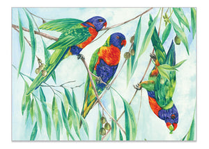 Australian Parrot Rainbow Lorikeet - Helen Ashley Designs