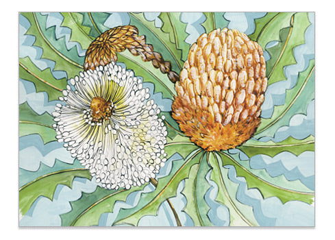 Bush Blooms Banksia - A6 Art Card